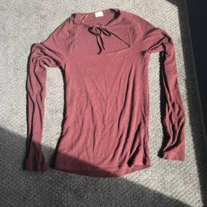 Brown Long Sleeved T-shirt from Wilfred